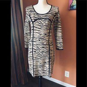 KENSIE tan/black animal print dress